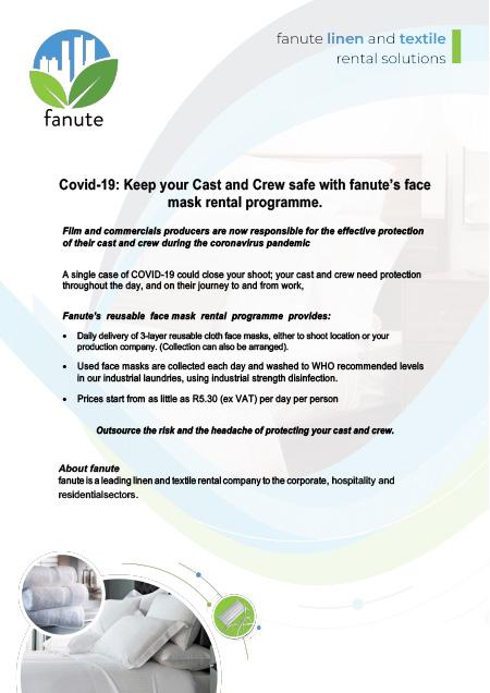 fanute-face-mask-rental-service-film-commercial-crew-brochure